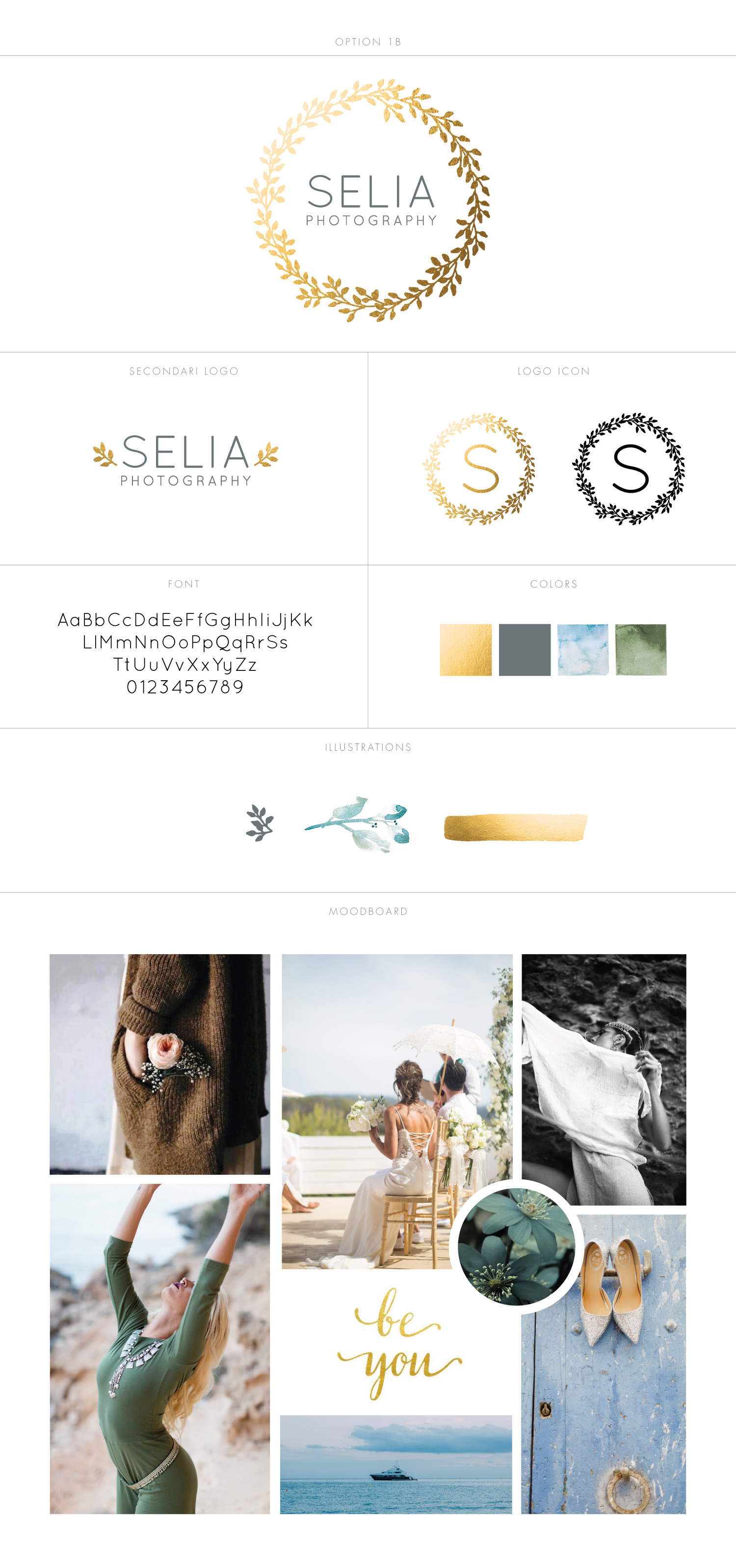 logo design and branding moodboard for Selia Photography