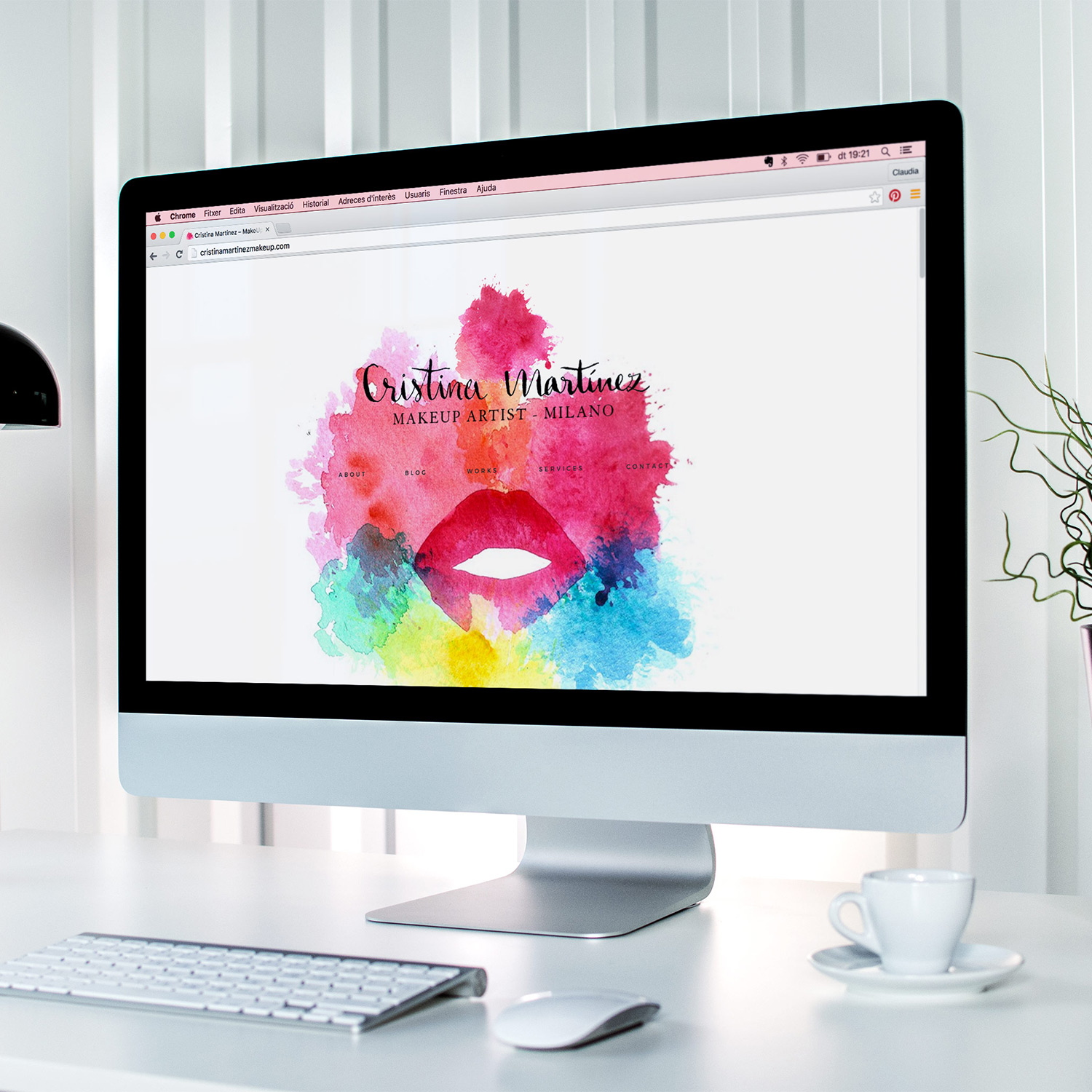 Makeup Artist Website Design for Cristina Martinez by Heartmade.es