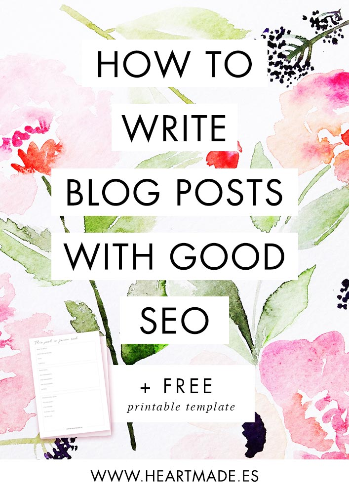 My step by step to create new blog posts with good SEO + free printable SEO planner!