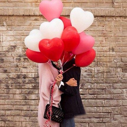 valentines day promo heart balloons