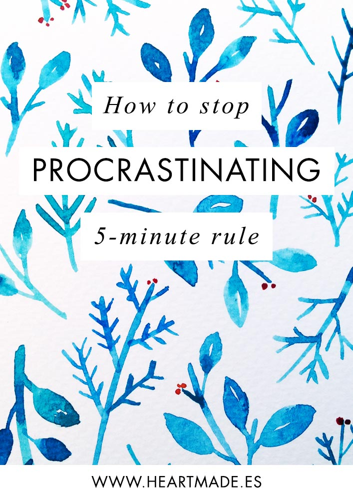 The 5 minute rule is the perfect solution to stop procrastinating.