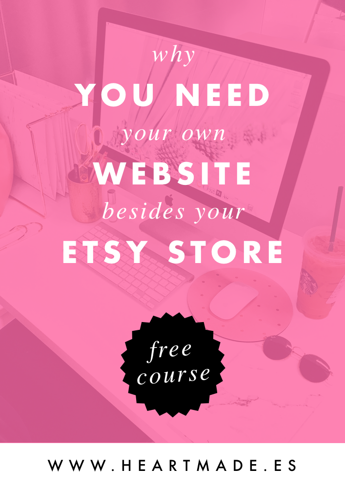 today I want to talk about why you need to have your own website besides your Etsy store. Plus, I'll teach you how to do it yourself!!