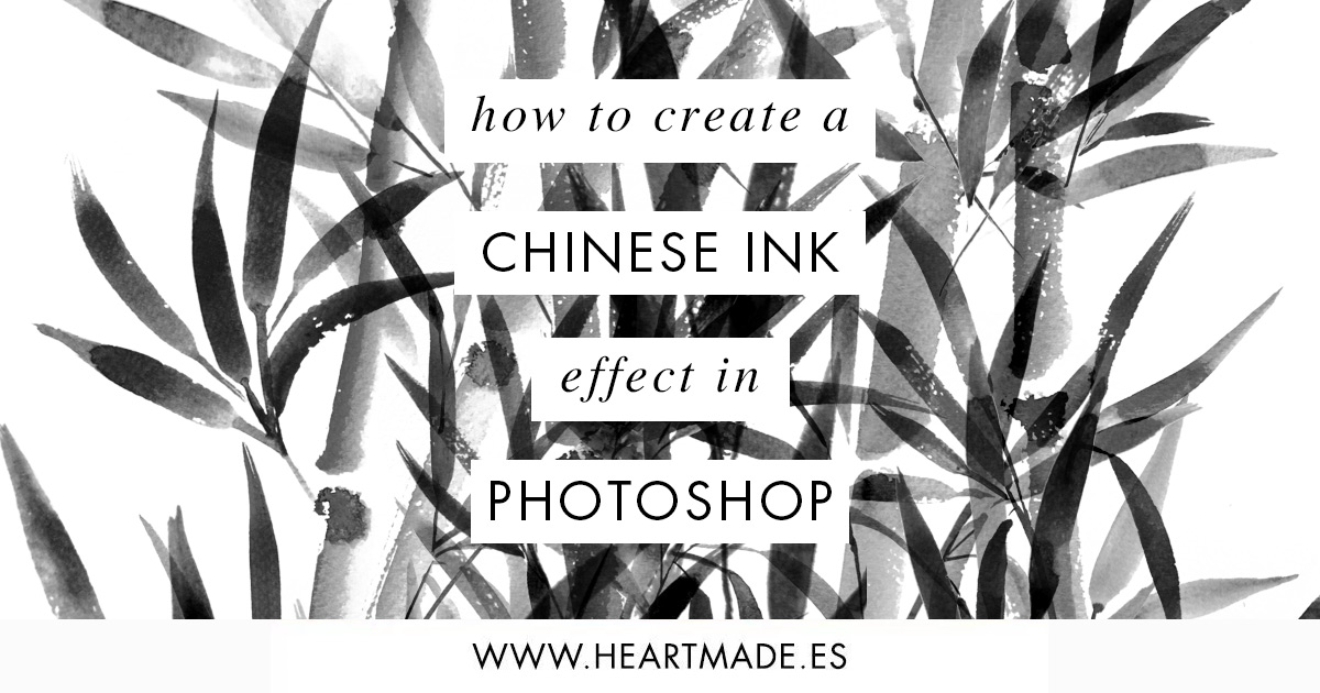 Chinese ink effect photoshop