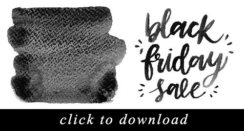 Download these free watercolor black friday clip art to create your own promotional image