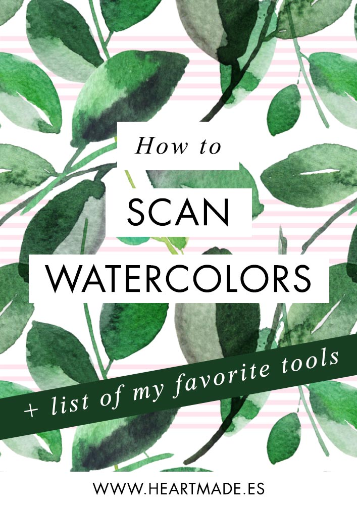 This is how I can my watercolor paintings. Do you want to know the best scanner I found? Here you have the info :)