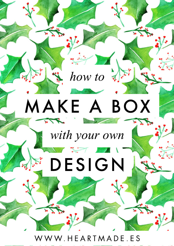 If you follow my step by step DIY tutorial you will get a custom box designed with your logo and a nice Christmas pattern