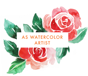 My story as watercolor artist by Heartmade.es