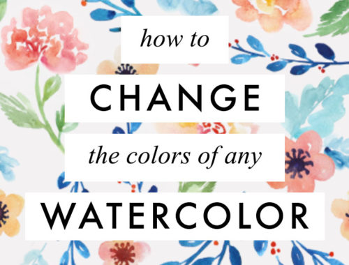 How to change the color of any watercolor painting with Photoshop - easy videotutorial