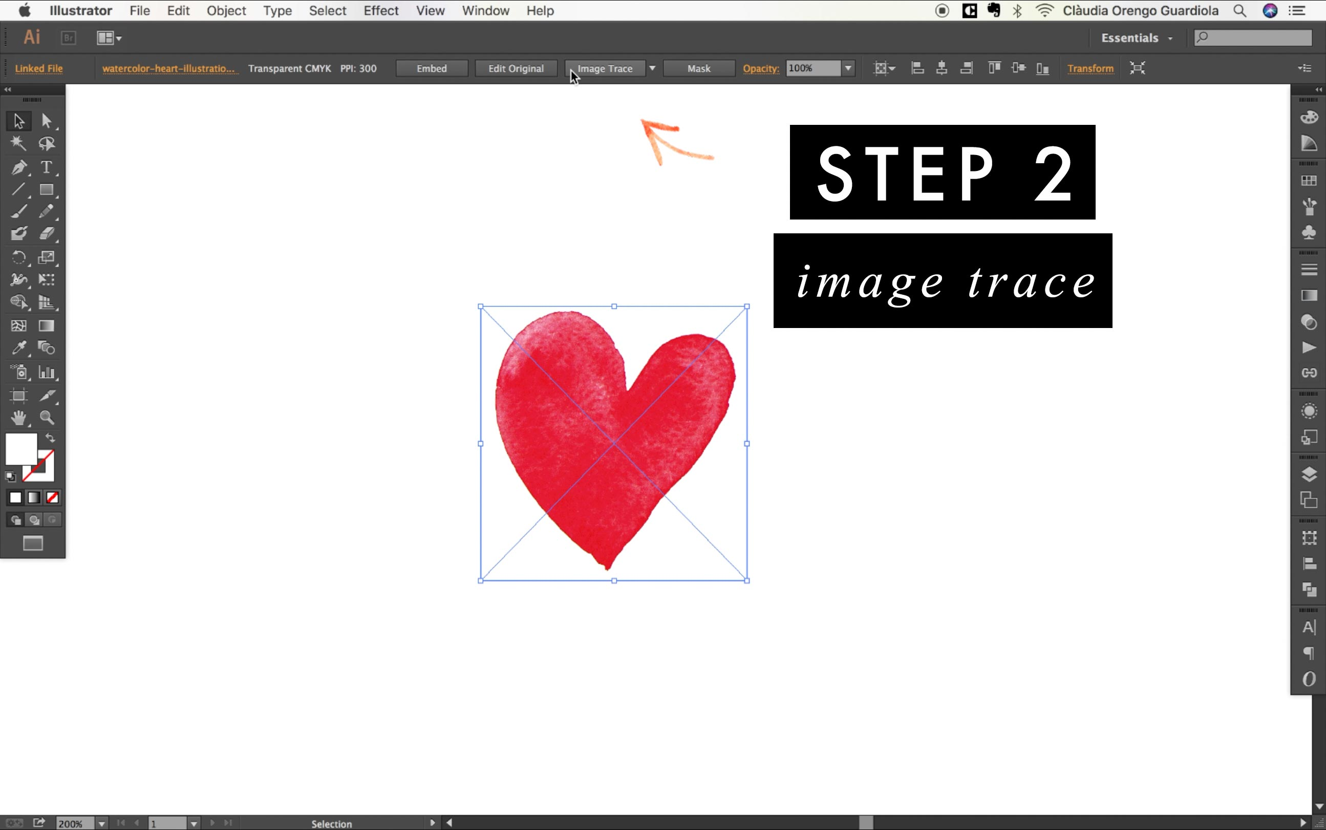 how to vectorize any watercolor painting with Illustrator.