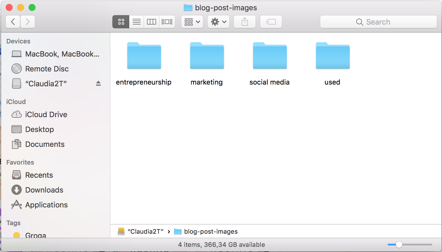 organize your blog images to save time