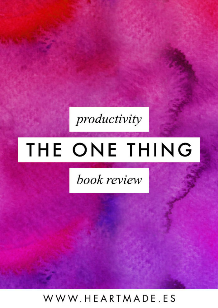 I just finished reading The One Thing book and I can't wait to share my thoughts with you.