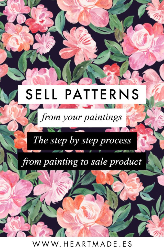 Online class: Sell Patterns from your Paintings - Learn how I design patterns, how I set them up for sale and where to sell them