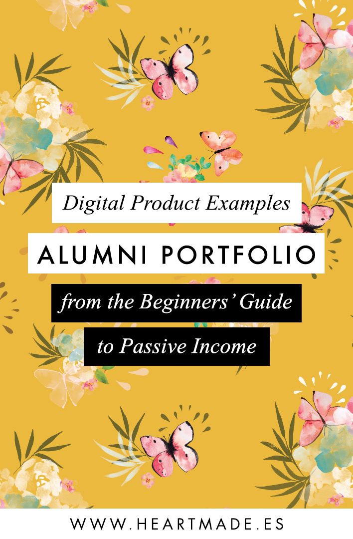 Digital Product Examples - Alumni Portfolio from the Beginners' Guide to Passive Income