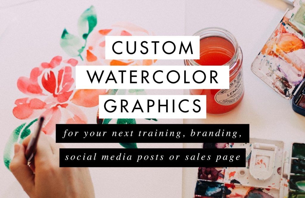 custom watercolor graphics hand painted by Claudia Orengo from Heartmade.es