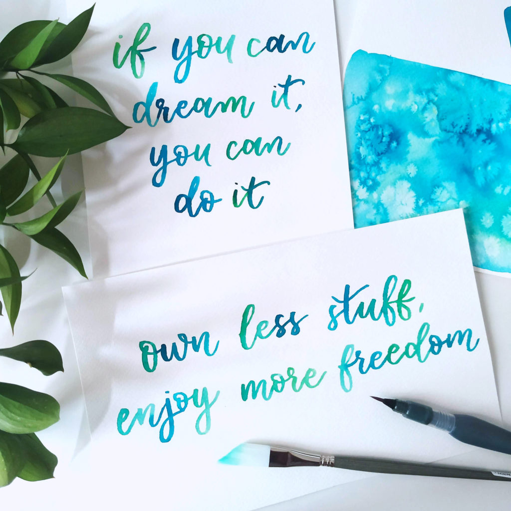 custom watercolor lettering quotes
