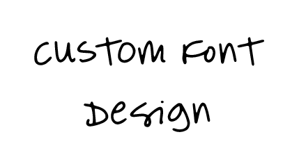 turn your handwriting into a custom font and do all of this for your business!